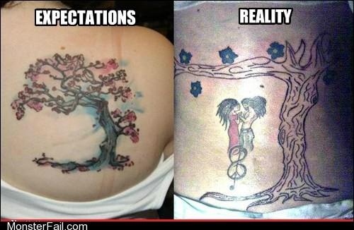 Funny tattoos Ugliest Tattoos Tree of Nightmares