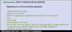 Nothing makes me laugh like green text stories