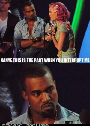 Kanye is not amused