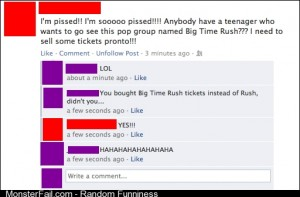 My friend thought Big Time Rush was Rushs new tour title