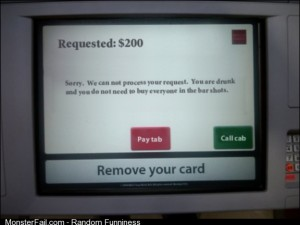 The ATM at my bar needs this
