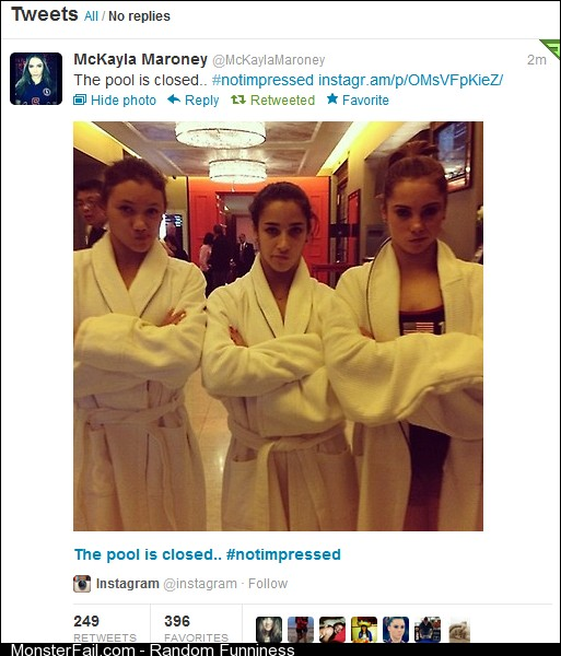 McKayla Maroney and the rest of team USA not impressed