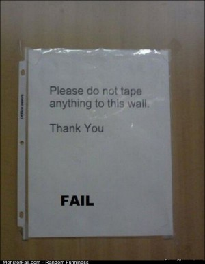 Fail do Not Tape
