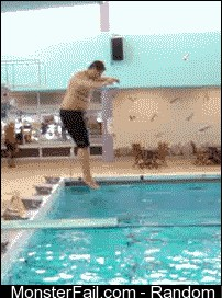 When I go to a swimming pool after watching Olympic diving