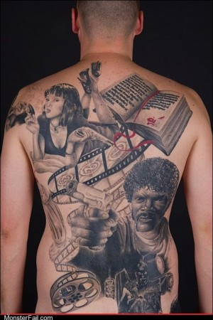 Funny tattoos Ugliest Tattoos Pulp Fiction WIN