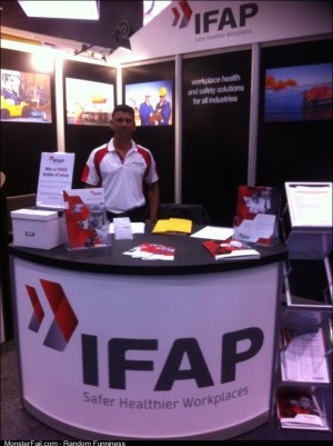 IFAP my friend got a job working in a booth at a jobs expo I think he how funny this is