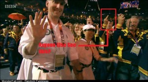 Not all the athletes are enjoying the Olympic closing ceremony