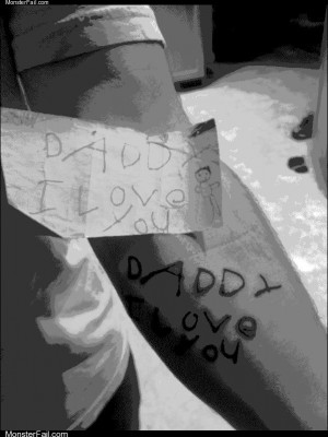 Daddy i love you tattoo