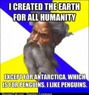 He likes penguins