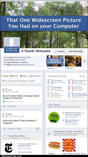 Funny facebook fails Your Facebook Timeline