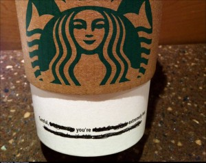 Starbucks pick up line