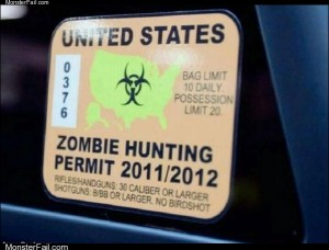 Zombie hunter permit