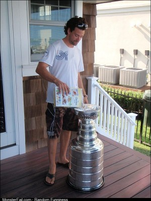 Eating Cheerios out of the Stanley Cup