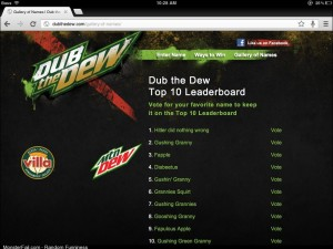 I grabbed a of the Dub the Dew for all you who missed it