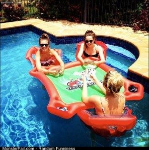 Funny Pics Floating Poker
