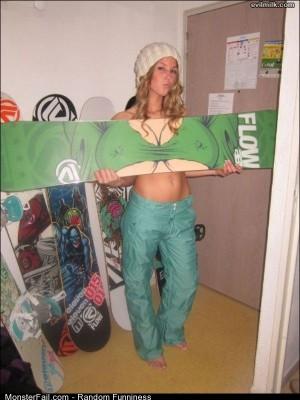 Funny Pics Snowboard Chick