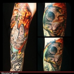 Funny tattoos Ugliest Tattoos Death Star WIN