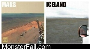 Mars Vs Iceland