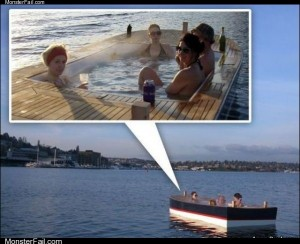 The pool boat