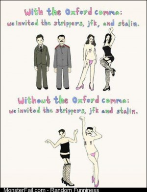 I see your of comma and raise you the of the Oxford comma