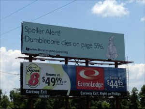 Harry Potter troll billboard