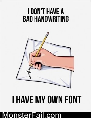 I Have My Own Font