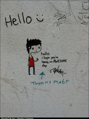 Canadian vandalism is too nice