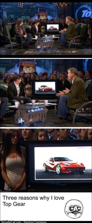 Funny Pics Top Gear Is Smart