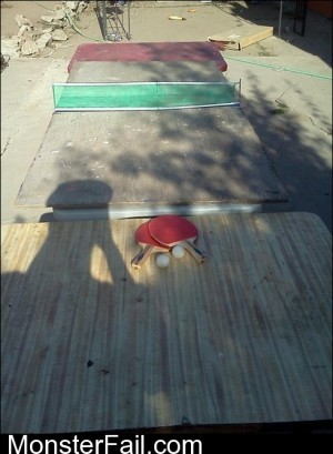 Ping Pong Table FAIL