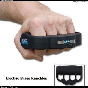Electric brass knuckles