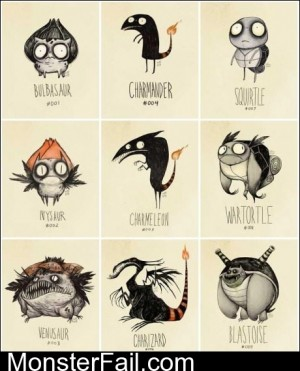 If Tim Burton Designed The Pokemon