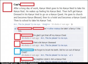 Kanye daily life explained by Facebook