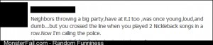 Fb status about party