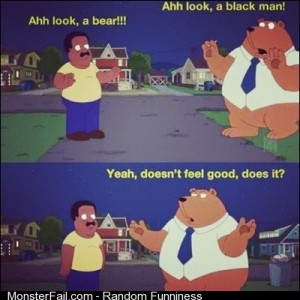 Lmfao bear haha humorous