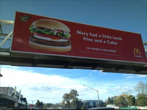 Started selling lamb burgers in OZ