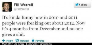 Fill Werrell insight on 2012