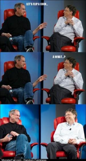 Gates and Jobs flip a coin