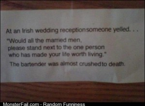 Irish wedding reception