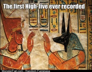 First Highfive ever recorded