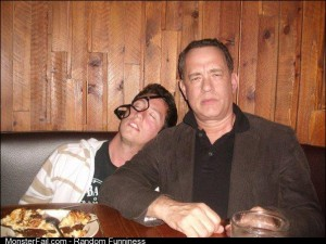 My friend met Tom Hanks stole his glasses and pretended to be wasted xpost from rfunny