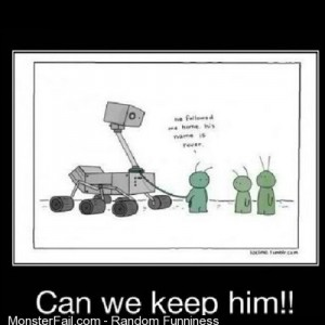 Lmfao space aliens cute lmao rover