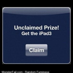 Seems lolnope scam silly funny fun ipad prize