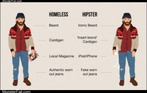 Homeless vs hipsters