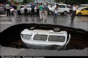 Huge Sink Hole
