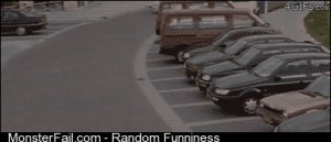 Getting chased by the police