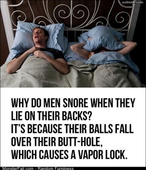 Funny Pics Why Men Snore
