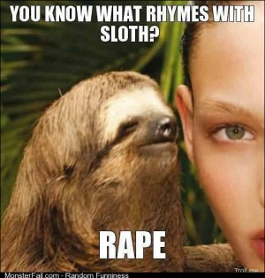 What rhymes with sloth