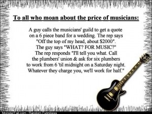 The price of musicians