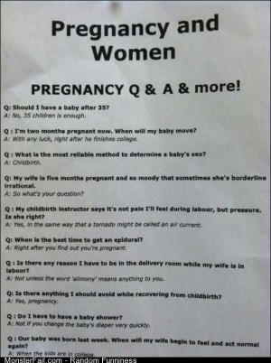 Funny Pics Pregnancy Q And A
