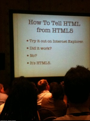 How to tell if its HTML5